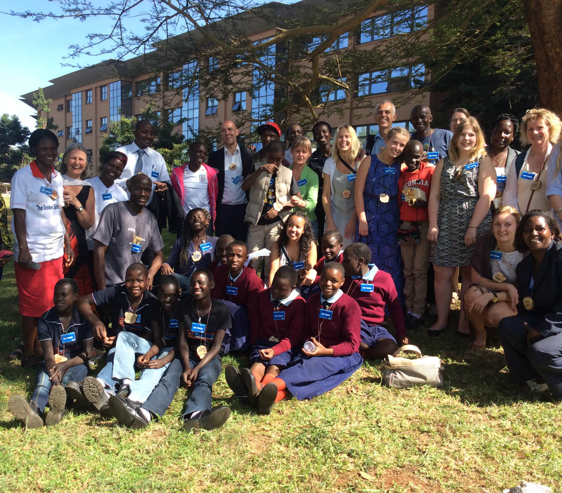 <h6>Christmas party in Nairobi for poor children living in the slums </h6>
